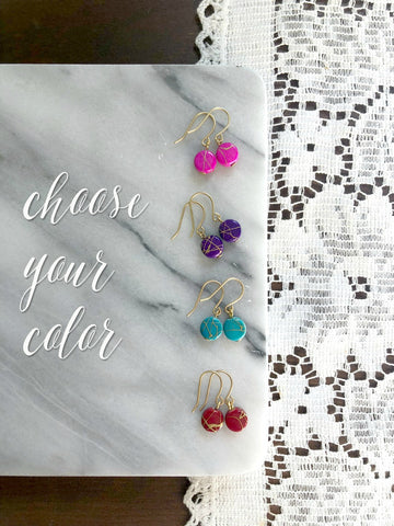 I AM WHOLE Dainty Earrings | Choose Your Color