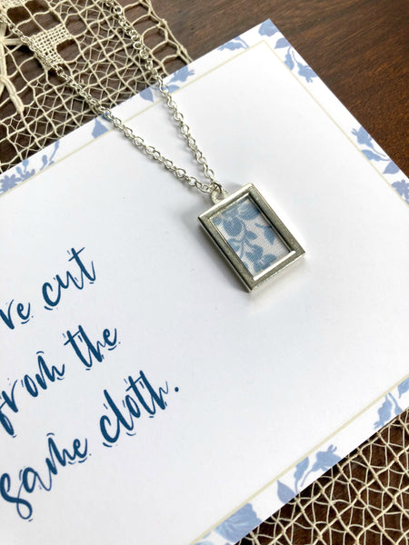 CUT FROM THE SAME CLOTH | Blue and White Floral Necklaces Set