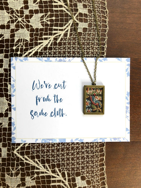 CUT FROM THE SAME CLOTH | Vintage Brown Fabric Necklaces Set