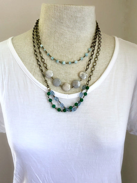 WV Nature Rustic Layered Statement Necklace
