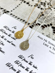 Tree Necklace in Silver or Gold | Psalm 1:3 Necklace & Poem