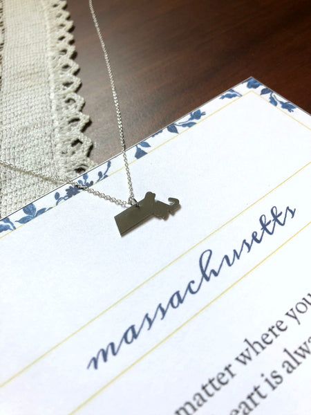 MASSACHUSETTS State Necklace
