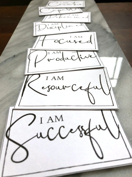 Motivational Intention Cards | 8 Pack Mini Cards