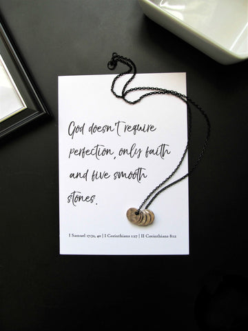 Five Smooth Stones Men's Necklace & Print | David & Goliath