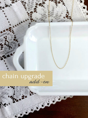 GOLD FILLED CHAIN UPGRADE | Add-On