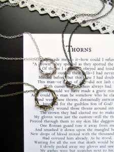 Crown of Thorns Necklace & Poem