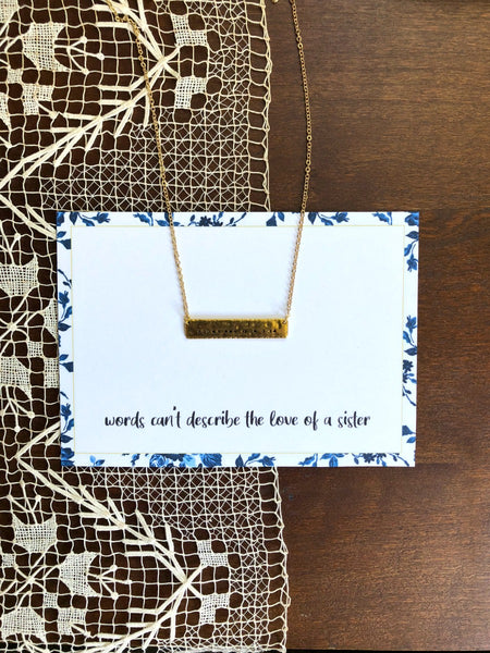 Morse Code Sister Necklace