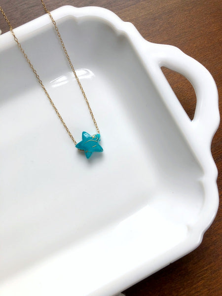 I AM WHOLE Turquoise Star Necklace