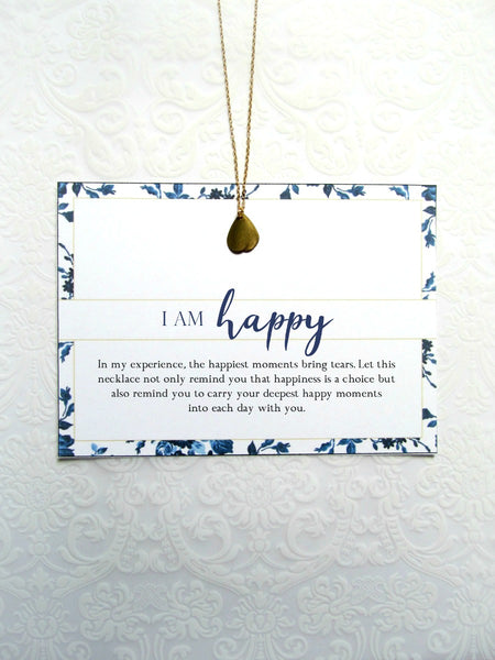 I AM HAPPY Necklace