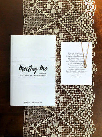 "BOOK AND NECKLACE SET | Meeting Me and ""Anchor"" Necklace"