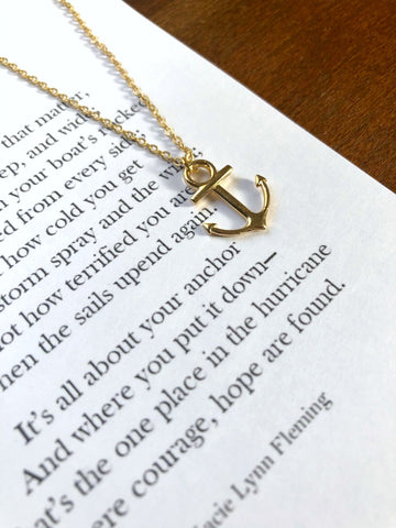 ANCHOR Necklace & Poem