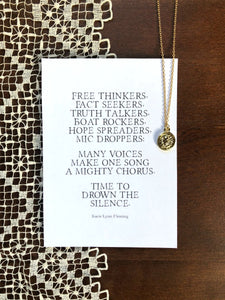ROAR Necklace & Poem