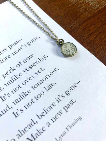 MAKE A NEW PAST Necklace & Poem