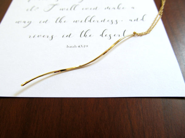 Isaiah 43:19 Rivers in the Desert Necklace & Print