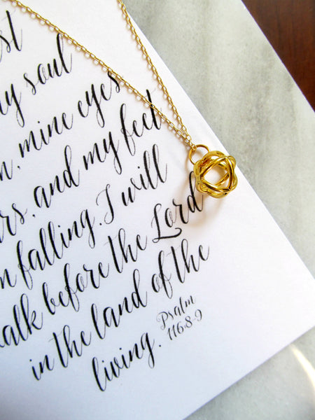 Psalm 116:8-9 Delivered Necklace & Print