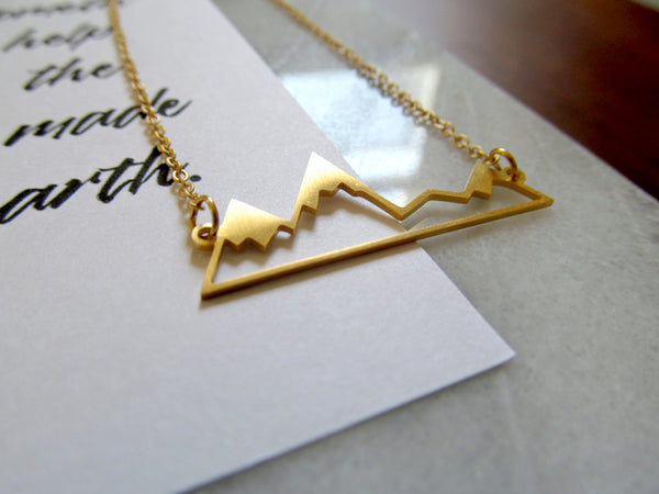 Psalm 121:1-2 Unto the Hills Necklace & Print