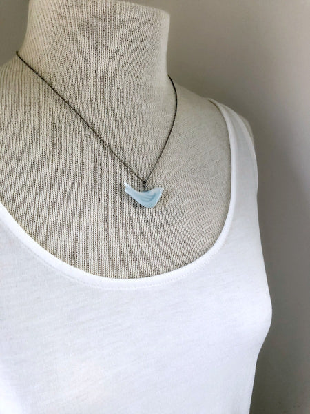 LISTEN Bird Necklace & Poem