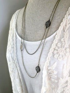 Bronze Leaf Dainty Layering Necklace