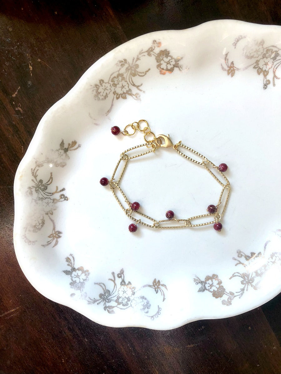 I AM WHOLE Red Gold Link Chain Bracelet