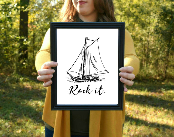 "Rock the Boat Print | 5x7"" or 8x10"""