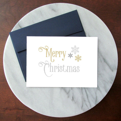 Merry Christmas Blank Inside Christmas Card