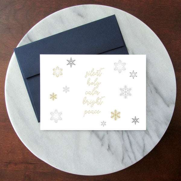 Silent Night Blank Inside Christmas Card