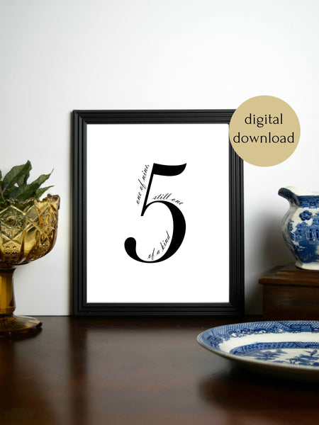 "Enneagram 5 Minimalist Digital Printable | 5x7"" and 8x10"""