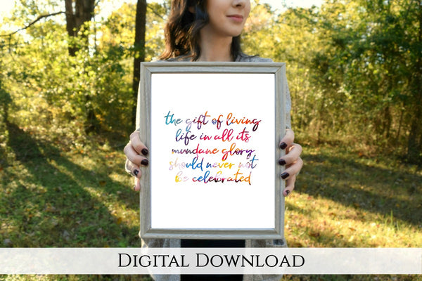 "The Gift of Life Printable | 5x7"" and 8x10"""