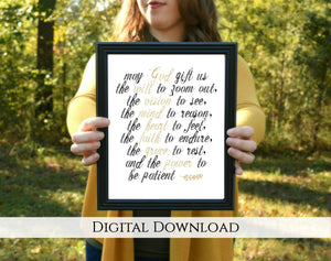 "Prayer for Today Digital Printable | 5x7"" and 8x10"""