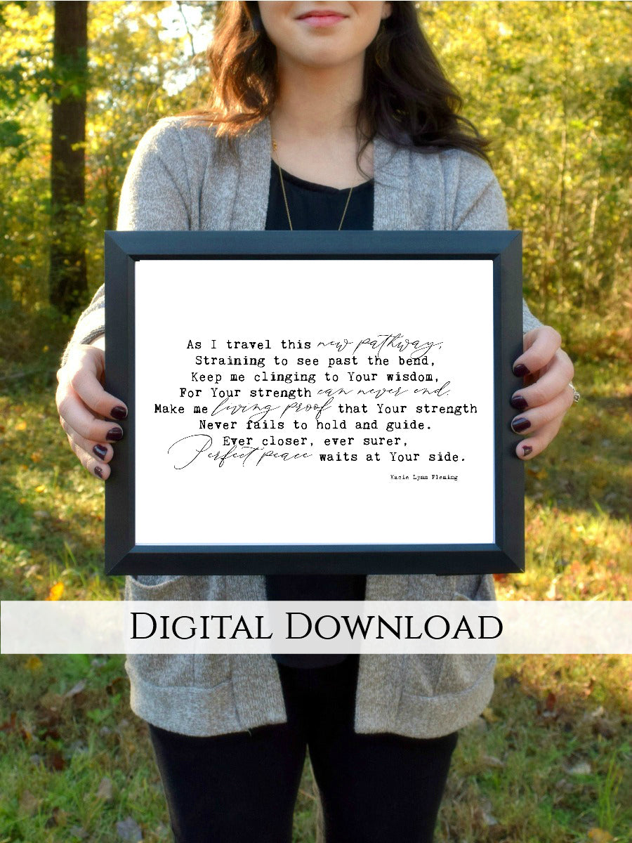 "Perfect Peace Digital Printable | 5x7"" and 8x10"""