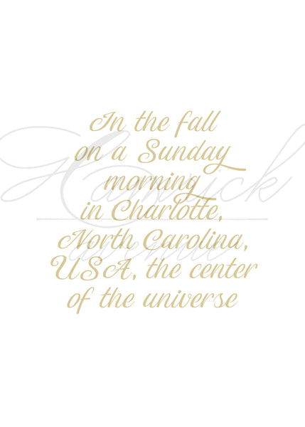 "WHERE WE MET Custom Print in Gold II | 5x7"" or 8x10"" or Printable"