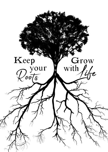 "Grow With Life Print | Tree & Roots | 5x7"" or 8x10"""