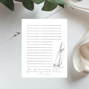 "Boat Quote Printable 8.5x11"" Stationery 