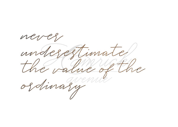"Value of the Ordinary Quote Print | 5x7"" or 8x10"""