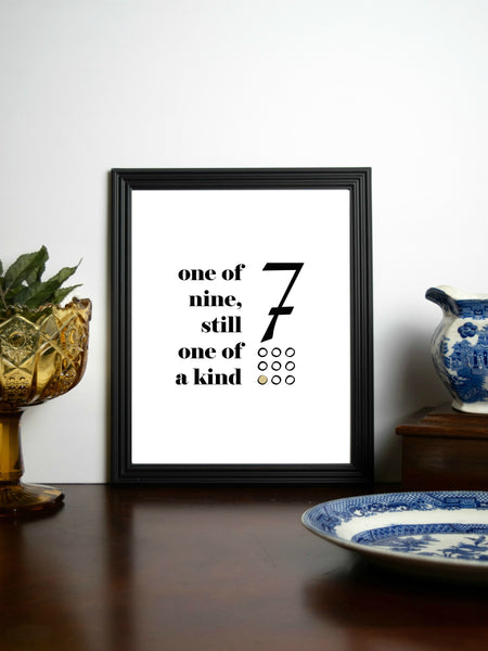 "Enneagram 7 Retro Quote Print | 5x7"" or 8x10"""