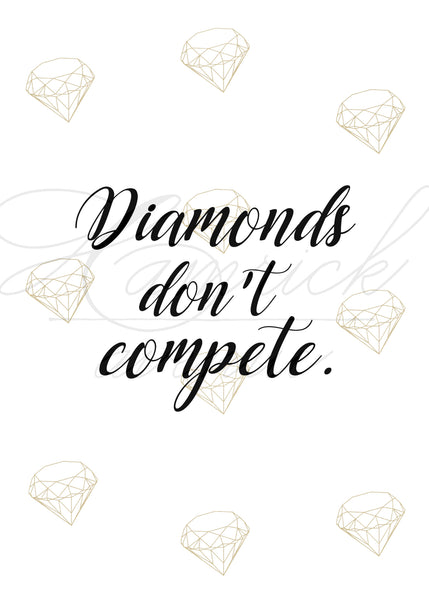 "Diamonds Quote Print I | 5x7"" or 8x10"""