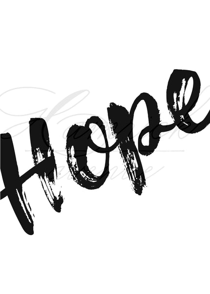 "Hope Word Art Print | 5x7"" or 8x10"""