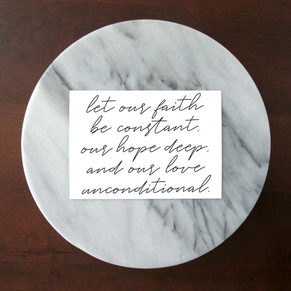 "Faith Hope Love Quote Print | 5x7"" or 8x10"""