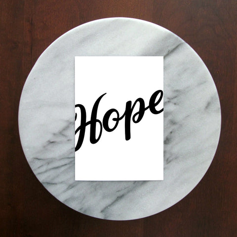 "Hope Cursive Print | 5x7"" or 8x10"""