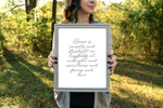 "FENCES Country Home Lyric Print | 5x7"" or 8x10"""
