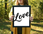 "Love Cursive Print | 5x7"" or 8x10"""