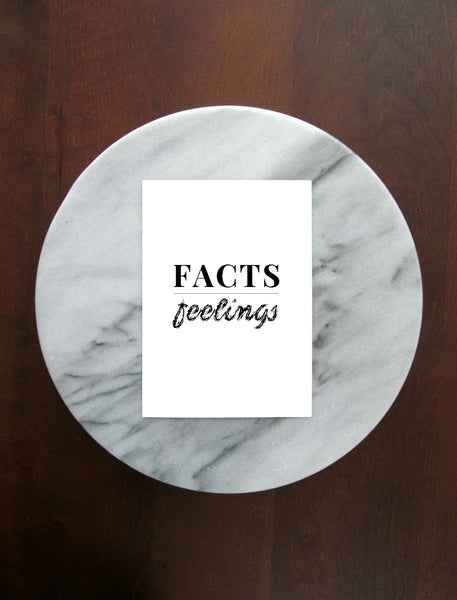 "Facts Over Feelings Print | 5x7"" or 8x10"""
