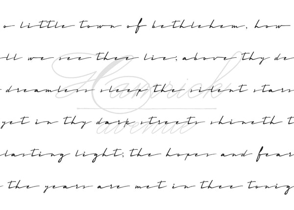 "O Little Town of Bethlehem Verse 1 Print | 5x7"" or 8x10"""