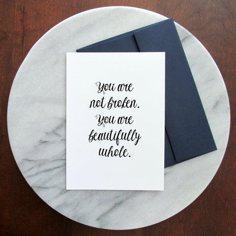 Kintsugi You Are Whole Greeting Card - Blank Inside