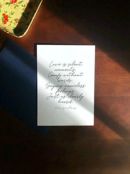 LOVE IS Greeting Card - Blank Inside