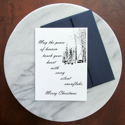 Christmas Greeting Card - Peace of Heaven - Blank Inside