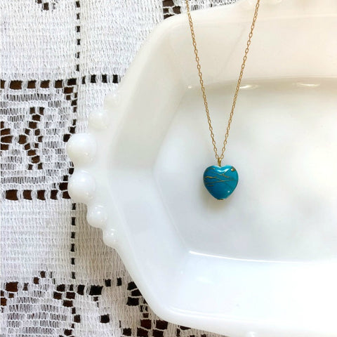 I AM WHOLE Turquoise Heart Necklace
