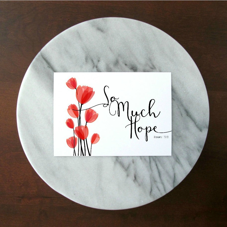 "So Much Hope Red Tulips Print | 5x7"" or 8x10"""