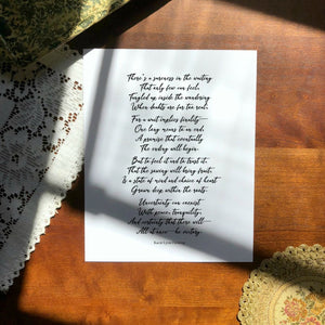 "INHALE Poem Print | 5x7"" or 8x10"""