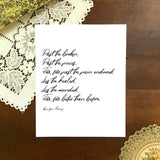 "BETTER THAN BEFORE Poem Print | 5x7"" or 8x10"""